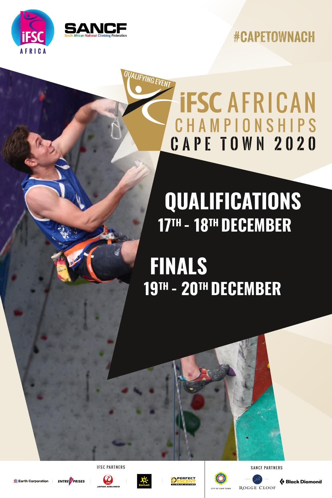 Poster IFSC Continental 2020 Cape Town