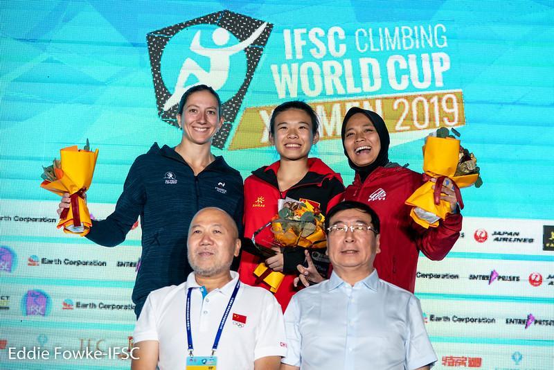 IFSC 2019 Speed Season Women Ranking