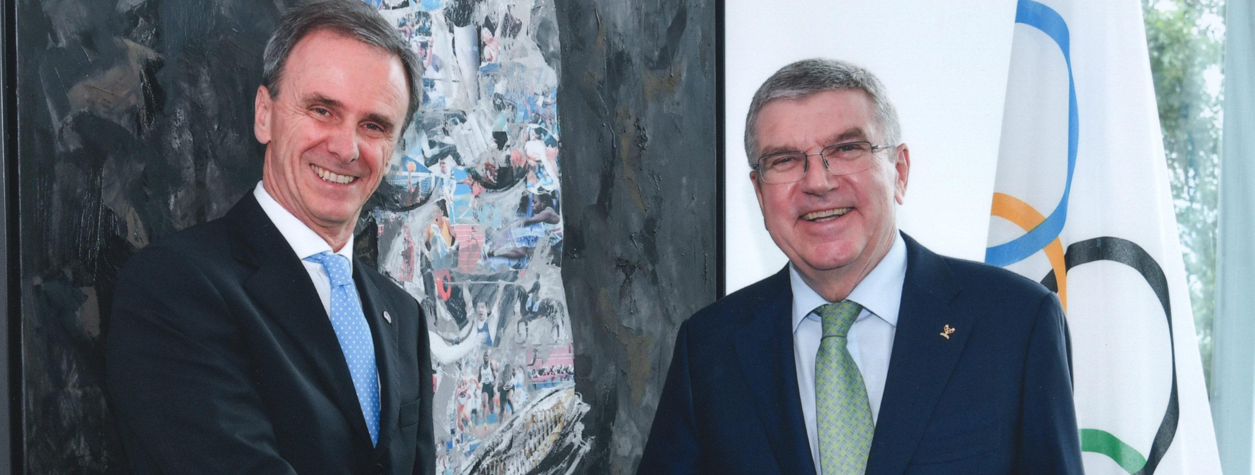 IFSC President Meets President of the IOC in Lausanne, Switzerland