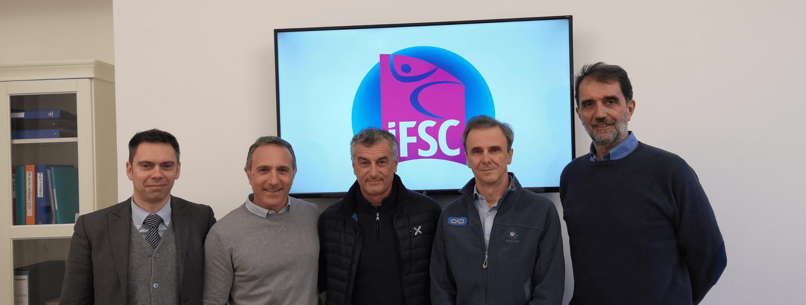 Federazione Arrampicata Sportiva Italiana (FASI) President meets IFSC President in Turin, Italy