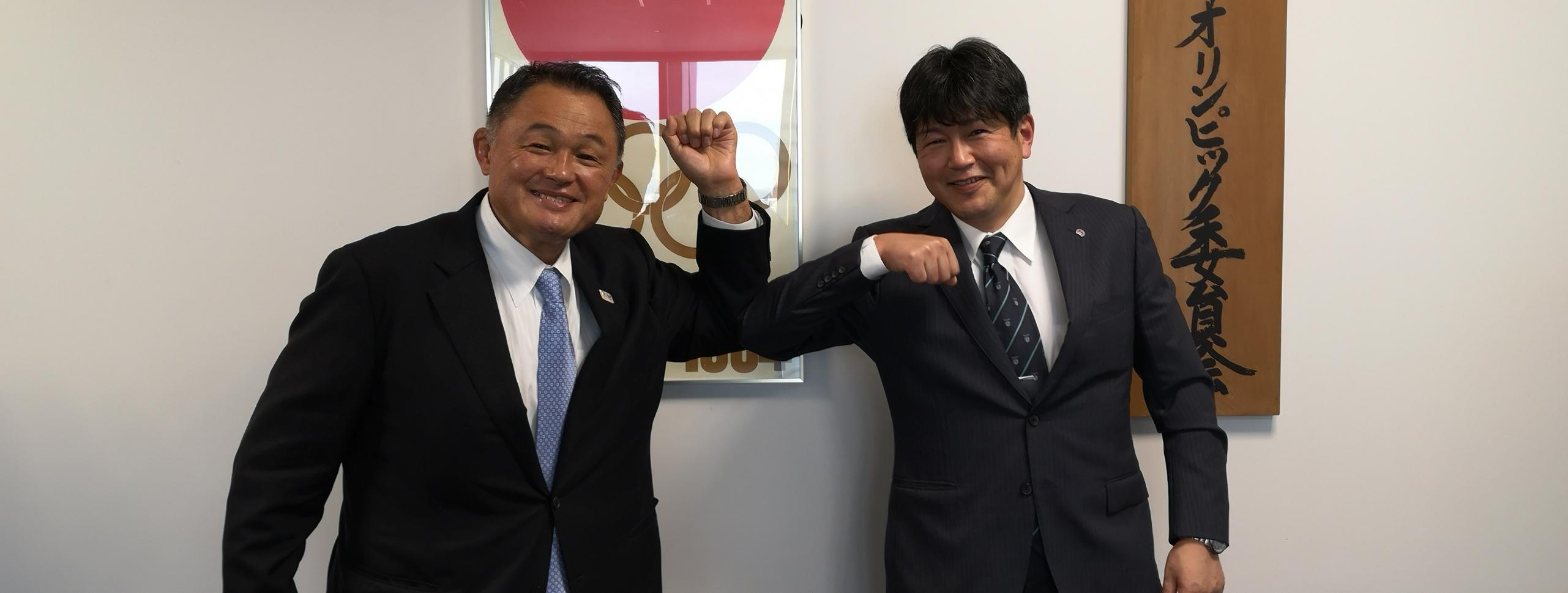 IFSC VICE PRESIDENT KOBINATA TORU MET WITH THE PRESIDENT OF THE JAPANESE OLYMPIC COMMITTEE