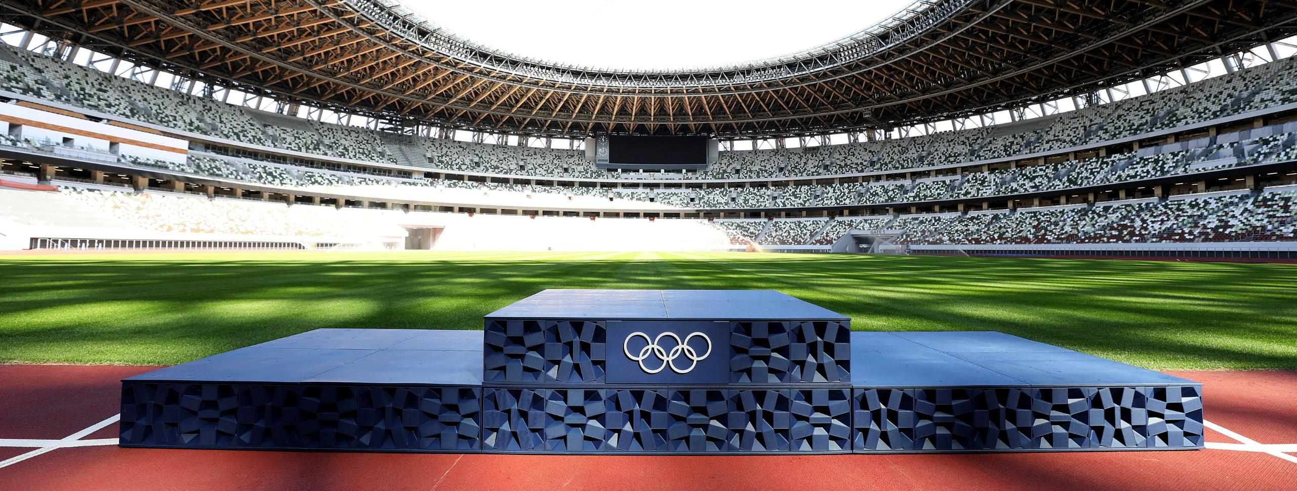 TOKYO 2020 CELEBRATES 50 DAYS UNTIL OLYMPIC GAMES, UNVEILS VICTORY CEREMONY PODIUMS, COSTUMES, MUSIC AND MEDAL TRAYS