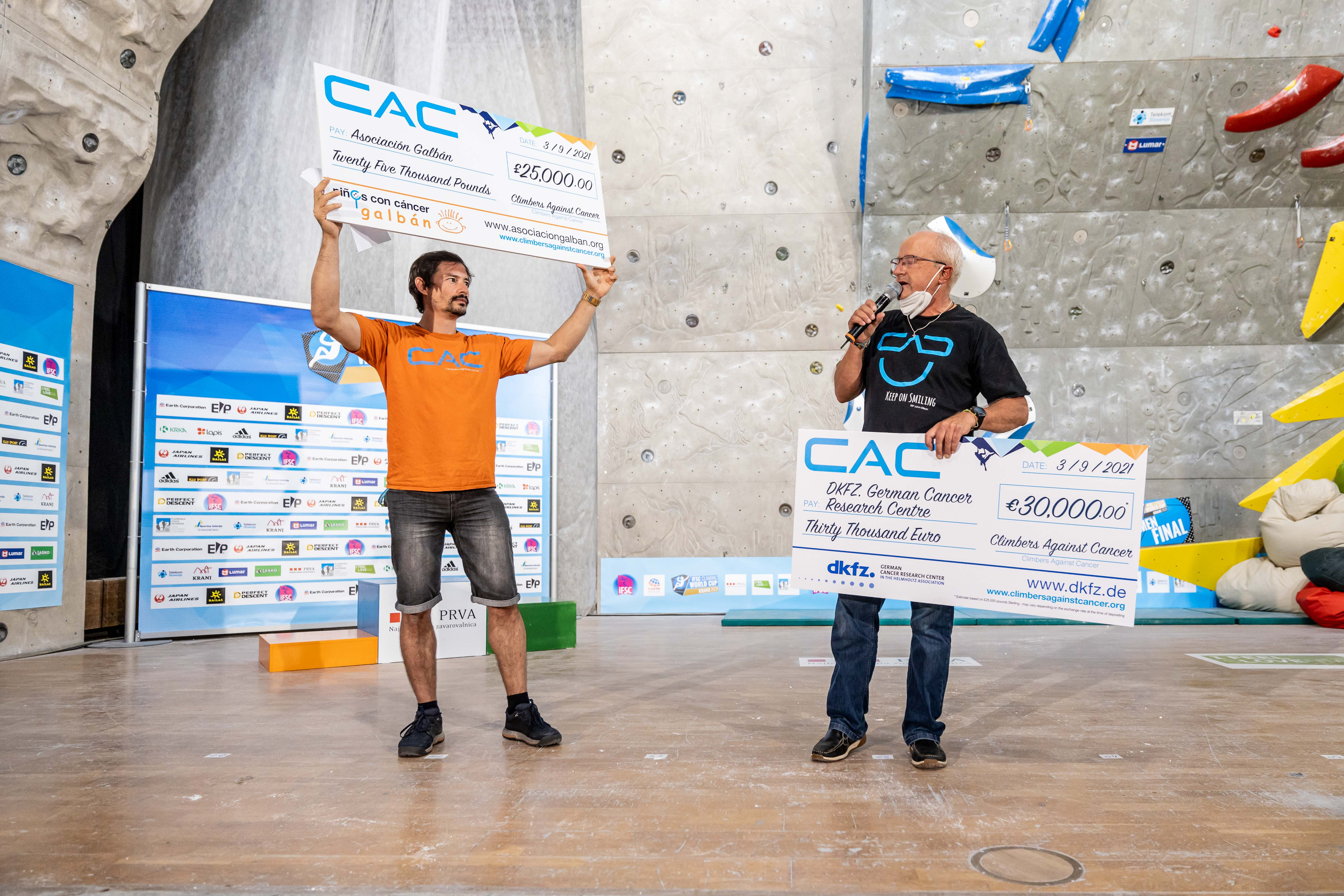 210906 IFSC News Climbers Against Cancer makes donations to two organisations in Germany and Spain